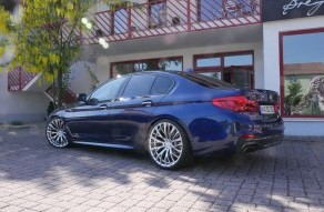Topas on BMW 5 series G30 with H&R springs